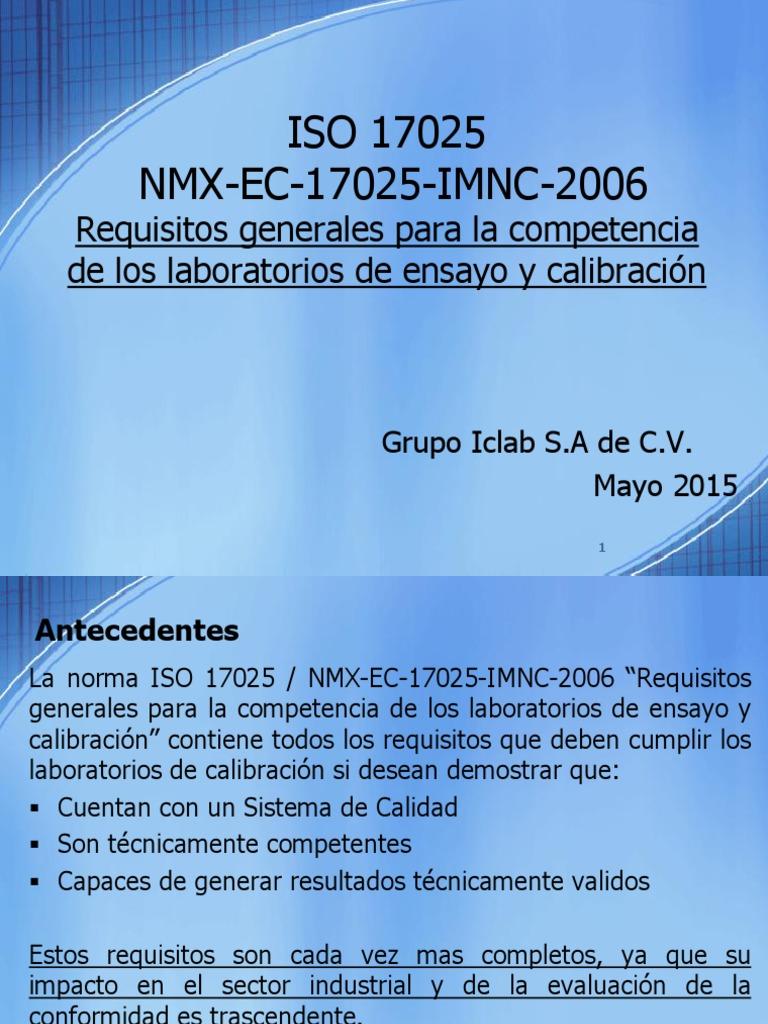Presentación ISO 17025