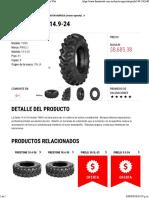 Llanta PIRELLI 14.9-24 - Tractor Agrícola _ Llantas Web