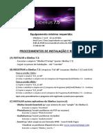 Sibelius 7.5 - Procedimentos de Instalação e Registro