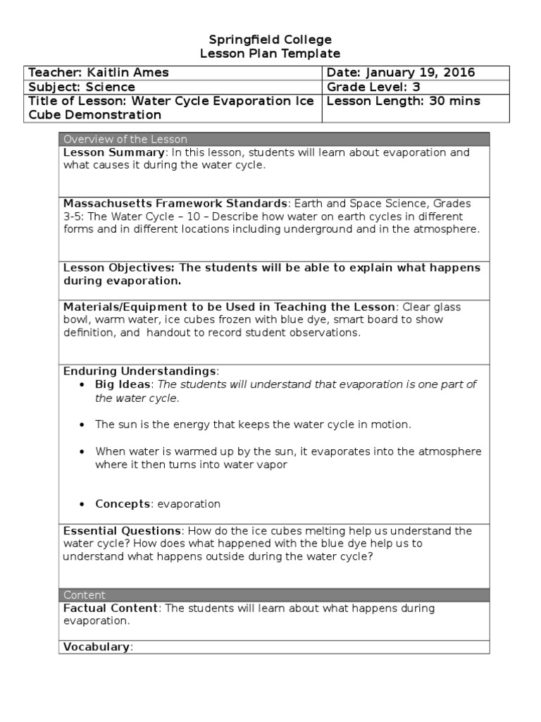 Nice College Lesson Plan Template Photos Lfs Lesson Plan Template