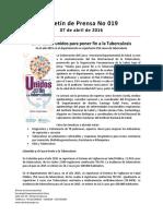 Boletín 019 en El Cauca Unidos Para Poner Fin a La Tuberculosis