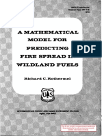 A MATHEMATICAL MODEL FOR PREDICTING FIRE SPREAD IN WILDLAND FUELS