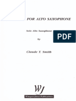 fantasia for Alto Saxophone Claude t Smith