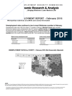 Unemployment by County February 2016
