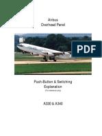 Airbus P/B overhead Panels