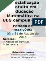 cartaz Especialização