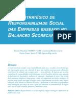 MAPA ESTRATÉGICO DE RESPONSABILIDADE SOCIAL DAS EMPRESAS BASEADO NO BALANCED SCORECARD