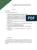 Taller de Caracterizacion de Salud en Poblacion