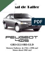 Taller Manual Peugeot 405