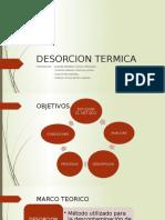 Desorcion Termica G-1 Presentacion