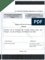 259893614 Analyse Et Pratique de l Audit Interne Dans Une Banque Copie