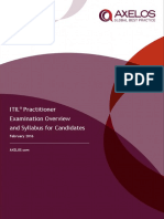 The ITIL Practitioner Certificate Syllabus