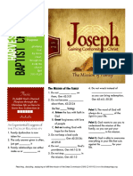 Joseph 15 Gen 42-45 Handout 041016
