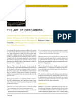 the Art of Onboarding