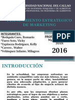 Exposicion de Planeamiento Estrategico Del Marketing
