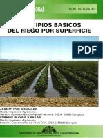 Principios básicos de Riego Superficial