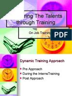 Summer Training or On Job Training