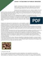 Acontecimientos, Procesos y Situaciones de Pueblos Indigenas en Guatemala