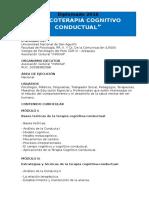 """""""Psicoterapia Cognitivo Conductual"""" 2016"""