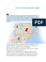Códigos Para Crear y Mostrar Mapas de Google Maps