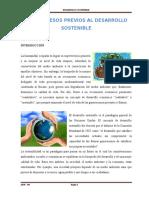 Los Procesos Previos Al Desarrollo Sostenible