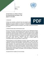 Informe del foro nacional sobre los derechos de las víctimas