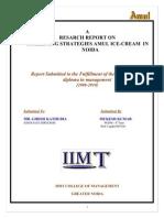 Marketing Strategies Amul Ice-cream