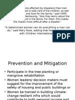 Role of Women in DRR