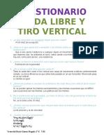 Tiro Vertical y Caída Libre - Cuestionario
