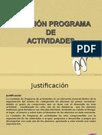 Exposición Programa de Actividades
