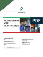 Elektrokoagulasi PT Centra Rekayasa Enviro