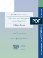 Evaluation Management Lowback Pain