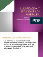 Clasificación y Estudio de Los Minerales