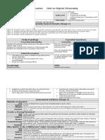 Digital Citizenship Unit Plan