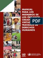 Manual para los Miembros de los Órganos creados en virtud de Tratados de DDHH