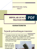 7 Karakteristik Transistor (BJT)