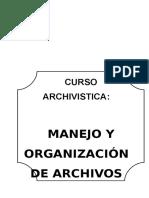 CURSO ARCHIVISTICA