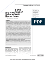 Diagnosis and Management of Subarachnoid Hemorrhage