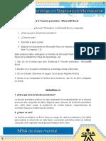 Evidencia 5 Funcion pronostico - Microsoft-� Excel