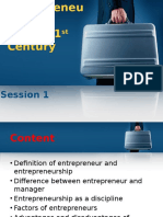 Session 1 - Entrepreneurship in the 21st Century