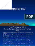 History of Human Computer Interaction