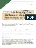 Creacion de Un Periodico Digital en Wordpress