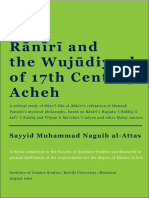 Raniri and the Wujudiyyah of 17th Century Acheh