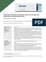 2011 Terapia de Movimiento Inducido Por Restricción Del Lado Sano. Alternativa en Pacientes Post-ictus