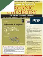 Solomons Fryhles Organic Chemistry for Iit Jee