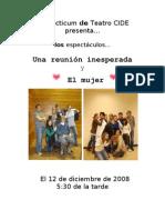 Programa de mano Otoño 08