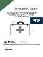 Manual de Primeros Auxilios Para Los Funcionarios......Trata de Personas