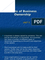 Forms of Business Ownership.unit 5