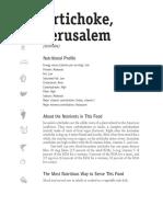 Artichoke Jerusalem _ Sunchoke Nutritional Profile