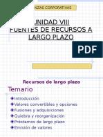Unidad IV Fuentes de Financiamiento de Largo Plazo 2011